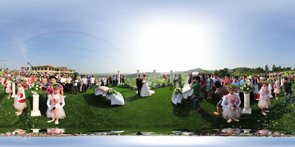 铁岭龙山高尔夫室外婚礼