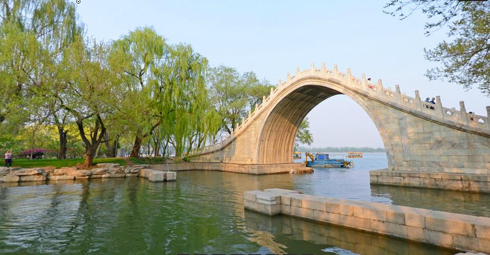 北京颐和园玉带桥绿化环境
