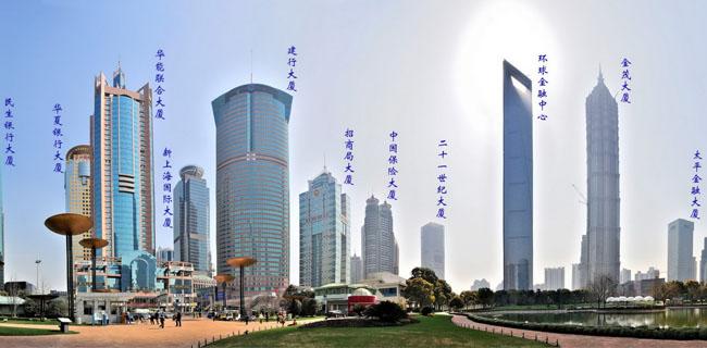 上海陆家嘴的大厦