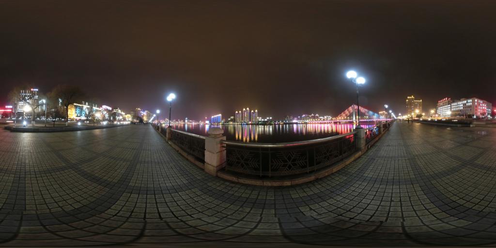 吉林市松花江夜景