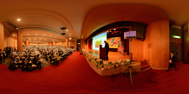多国籍企業國際會議現場