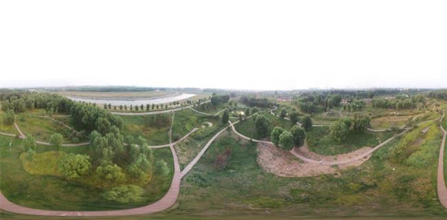 榆次潇河湿地公园航拍360°全景