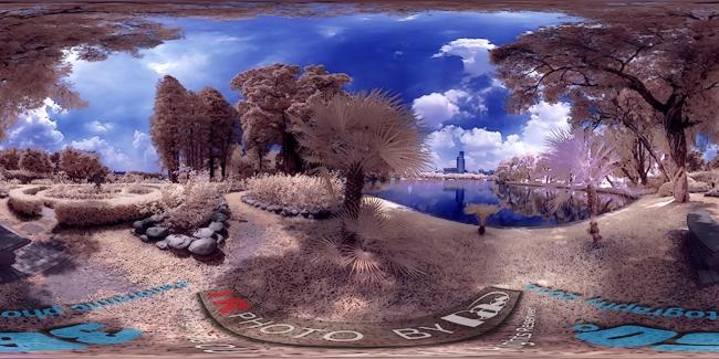 广州流花湖公园玫瑰园(红外全景摄影)