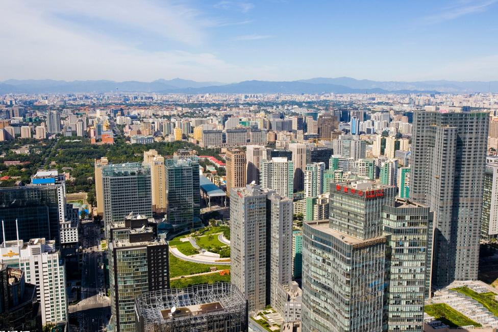 从景山看北京全景