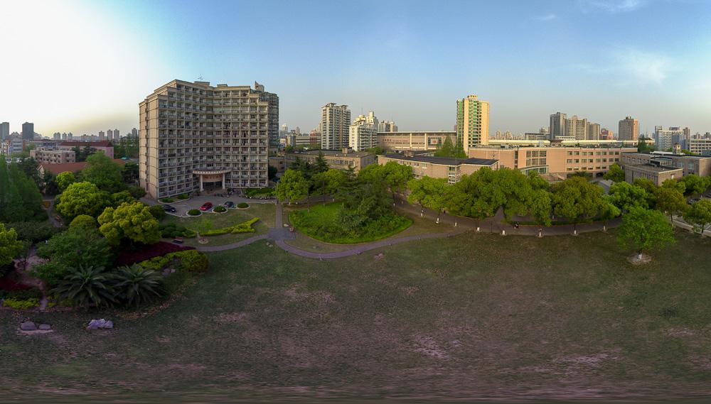 航拍全景:上海财经大学研究生院