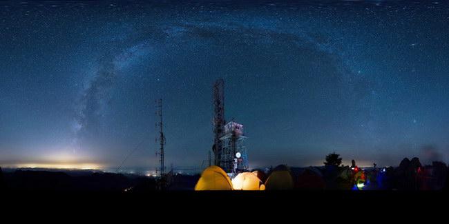 清华经管摄协星野拍摄活动中拍摄的银河全景