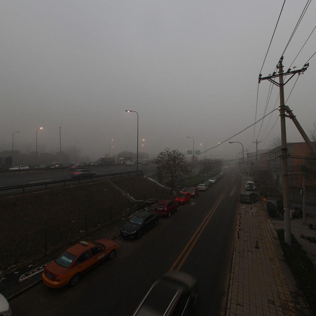20151201北京大雾霾纪实之望京篇